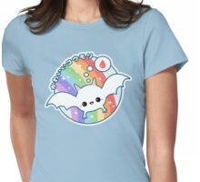 Cute Albino Bat Womens Fitted T-Shirt