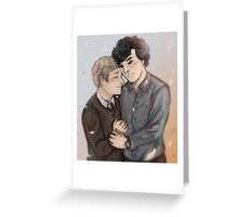 Johnlock: Feathers Greeting Card