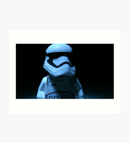 Lego First Order StormTrooper Art Print