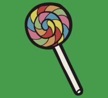 Rainbow Lollipop Pattern Kids Tee