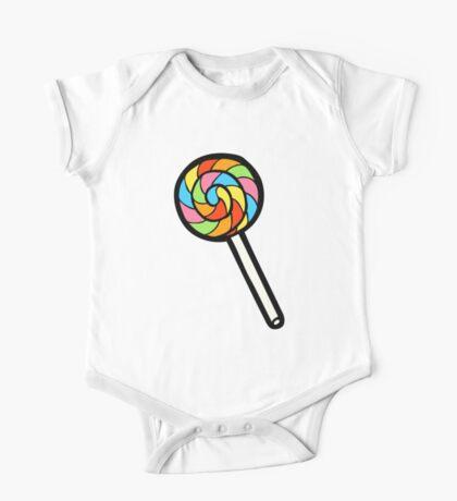 Rainbow Lollipop Pattern One Piece - Short Sleeve