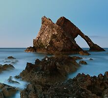 Sunset by Bow Fiddle Rock by Maria Gaellman