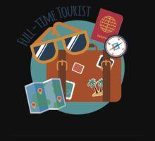 Full-time Tourist Traveler  Kids Tee