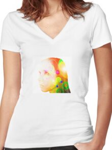 Psychedelic Fairy Child Women's Fitted V-Neck T-Shirt