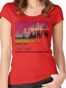 New York lines 4 Women's Fitted Scoop T-Shirt