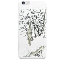 Snowy fence - verschneiter Zaun iPhone Case/Skin