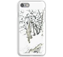 Snowy fence - verschneiter Zaun iPhone Case/Skin