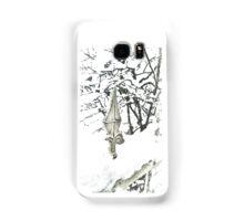 Snowy fence - verschneiter Zaun Samsung Galaxy Case/Skin