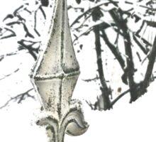 Snowy fence - verschneiter Zaun Sticker