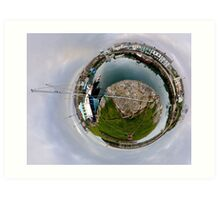 Hurry Head Harbour, Carnlough, County Antrim - Sky out Art Print