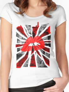 Lips - Red Women's Fitted Scoop T-Shirt