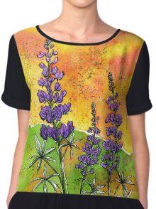 Lupin Flowers Chiffon Top