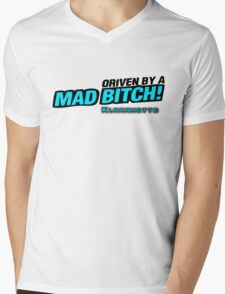 drive by a mad Bitch - Blue Mens V-Neck T-Shirt