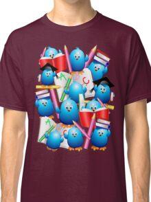 Back to School Cute Blue Birds Classic T-Shirt