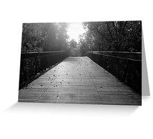 Center Bridge Sequel - Black and White Greeting Card