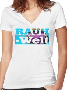 Rauh Welt Begriff 02 B Women's Fitted V-Neck T-Shirt