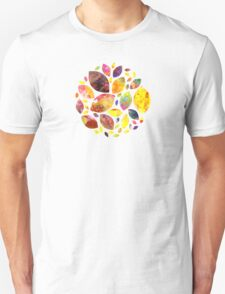 Autumn Leaf Mandala Unisex T-Shirt