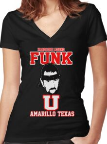 "Terry Funk ""Funk U"" T Shirt Women's Fitted V-Neck T-Shirt"
