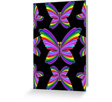 Butterfly Psychedelic Rainbow Greeting Card