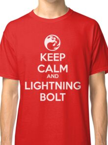 Keep Calm and Lightning Bolt Classic T-Shirt