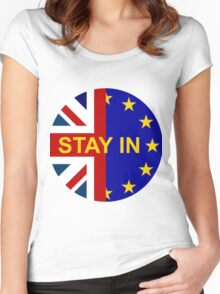 STAY IN! Women's Fitted Scoop T-Shirt