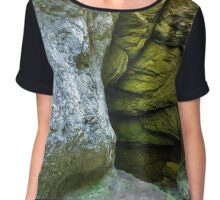 Entrance of a cave with underground river Chiffon Top