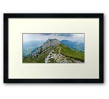Mountain top panorama Framed Print