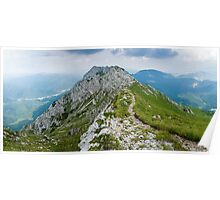 Mountain top panorama Poster