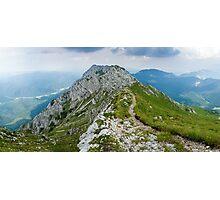 Mountain top panorama Photographic Print