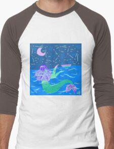 Mermaid and Human Men's Baseball ¾ T-Shirt