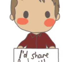 Dean - I'd share food with you Sticker
