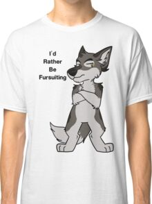 I'd Rather Be Fursuiting V2 Wolf  Classic T-Shirt
