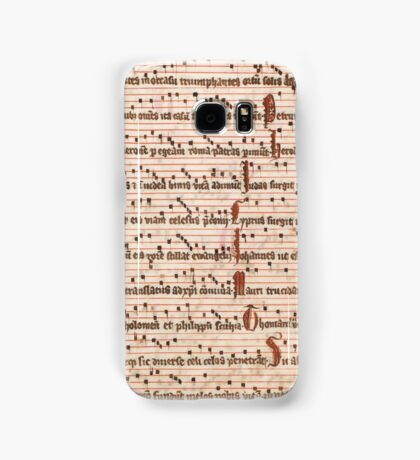 Medieval Sheet Music  Samsung Galaxy Case/Skin