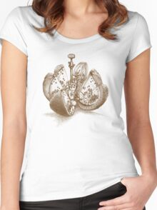Steampunk Orange Women's Fitted Scoop T-Shirt