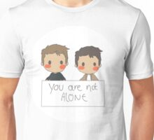 Jensen Ackles - Misha Collins - You Are Not Alone Unisex T-Shirt