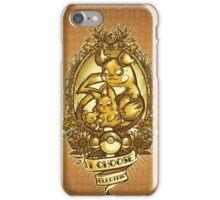 i choose electric  iPhone Case/Skin