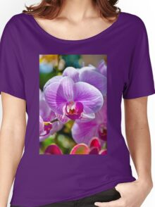Pink White Orchid Women's Relaxed Fit T-Shirt