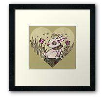 Valentine Jackalope Framed Print