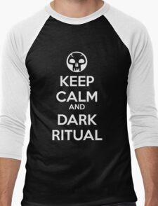 Keep Calm and Dark Ritual Men's Baseball ¾ T-Shirt