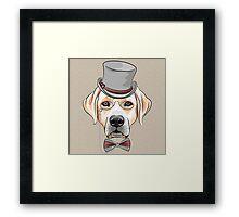 Hipster dog Labrador Retriever Framed Print