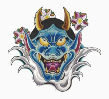 Blue Hannya Kids Tee