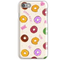 Beautiful vector seamless pattern with colorful donuts iPhone Case/Skin
