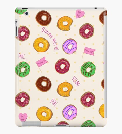 Beautiful vector seamless pattern with colorful donuts iPad Case/Skin