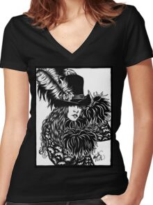 Mystery Women's Fitted V-Neck T-Shirt
