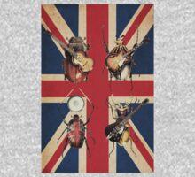 Meet the Beetles (Union Jack Option) One Piece - Short Sleeve