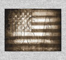 USA in Sepia Baby Tee