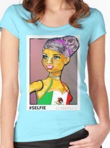 SENORA ALMA: LATINA BARBIE #SELFIE Women's Fitted Scoop T-Shirt