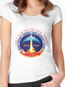 Last Flight of Discovery OV-103 Women's Fitted Scoop T-Shirt