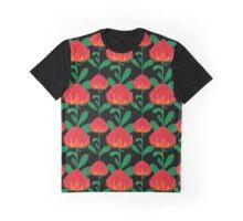 Australian Waratah pattern Graphic T-Shirt