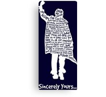 The Breakfast Club - Sincerely Yours - White Canvas Print